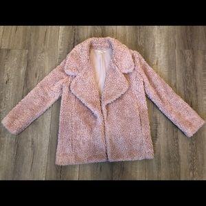 TULAROSA Blush Pink Shag Jacket